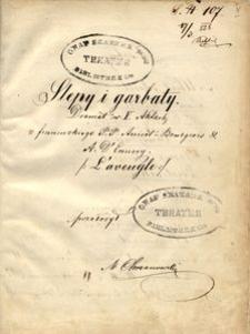 Ślepy i garbaty. Dramat w V Aktach z francuzkiego P.P. Anicet-Bourgeois & A. D'Ennery, przełożył M. Chrzanowski
