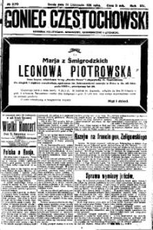 Goniec Częstochowski, 1920, R. 15, No 270