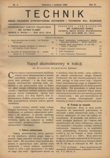 Technik, 1936, R. 9, nr 4