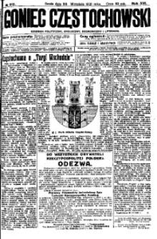 Goniec Częstochowski, 1921, R. 16, No 212