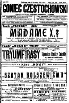 Goniec Częstochowski, 1921, R. 16, No 255