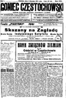 Goniec Częstochowski, 1922, R. 17, No 1