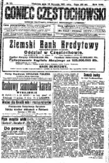 Goniec Częstochowski, 1922, R. 17, No 12