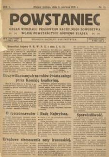 Powstaniec, 1921, R. 1, nr 16