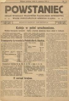 Powstaniec, 1921, R. 1, nr 18
