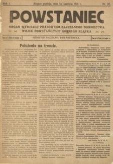 Powstaniec, 1921, R. 1, nr 20