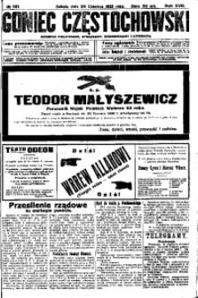 Goniec Częstochowski, 1922, R. 17, No 141