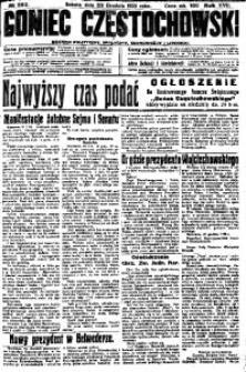 Goniec Częstochowski, 1922, R. 17, No 292