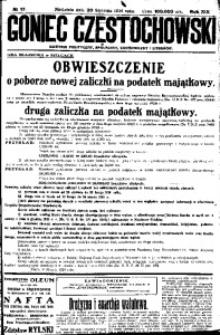 Goniec Częstochowski, 1924, R. 19, No 17