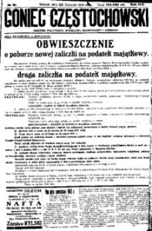 Goniec Częstochowski, 1924, R. 19, No 18