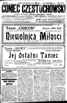 Goniec Częstochowski, 1924, R. 19, No 25