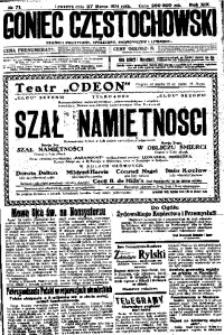 Goniec Częstochowski, 1924, R. 19, No 71