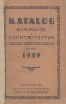 Katalog kościołów i duchowieństwa Diecezji Częstochowskiej na rok 1939