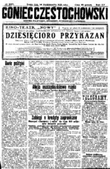 Goniec Częstochowski, 1925, R. 20, No 237