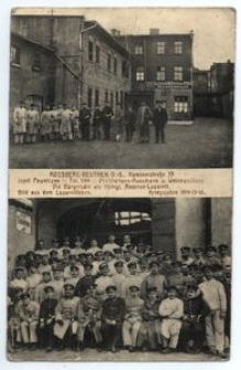 Rossberg-Beuthen O.-S. Kaminerstrasse 35 Josef Pawelczyk ... Bild aus dem Lazarettleben Kriegsjahre 1914-15-16