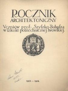Rocznik Architektoniczny, 1913-1914