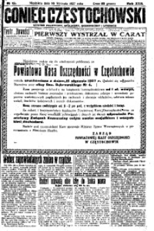 Goniec Częstochowski, 1927, R. 22, No 12