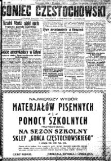 Goniec Częstochowski, 1927, R. 22, No 198