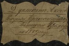 Wtóropis księgi urodzeń, małżeństw i zgonów 1889