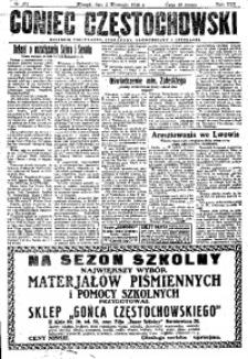 Goniec Częstochowski, 1930, R. 25, No 201