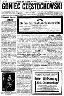 Goniec Częstochowski, 1932, R. 27, No 63