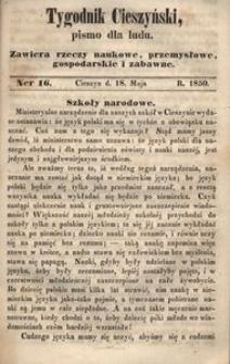 Tygodnik Cieszyński, 1850, nr 16