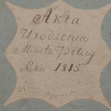 Księga urodzeń Pilica - miasto 1815