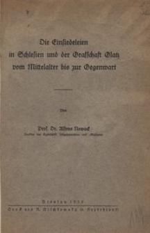 Die Einsiedeleien in Schlesien und der Grafschaft Glatz vom Mittelalter bis zur Gegenwart