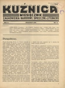 Kuźnica, 1936, R. 2, nr 9