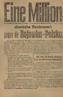 Eine Milion deutsche Reichsmark gegen die Bojowka-Polska