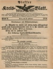 Plesser Kreis-Blatt, 1879, St. 9