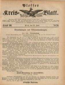 Plesser Kreis-Blatt, 1879, St. 26