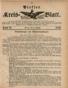 Plesser Kreis-Blatt, 1879, St. 31
