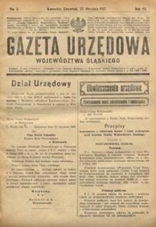 Gazeta Urzędowa Województwa Śląskiego, 1927, R. 6, nr 3