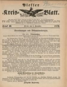 Plesser Kreis-Blatt, 1879, St. 49