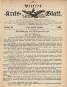 Plesser Kreis-Blatt, 1879, St. 51