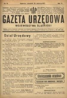 Gazeta Urzędowa Województwa Śląskiego, 1927, R. 6, nr 18