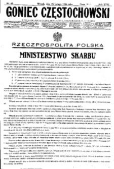 Goniec Częstochowski, 1936, R. 31, No 46