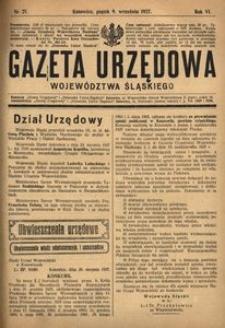 Gazeta Urzędowa Województwa Śląskiego, 1927, R. 6, nr 27