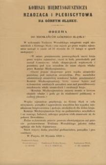 Komisja Międzysojusznicza Rządząca i Plebiscytowa na Górnym Sląsku [!]. = Die Interalliierte Kommission für Regierung und Plebiscit in Oberschlesien