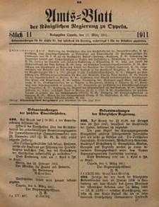 Amts-Blatt der Königlichen Regierung zu Oppeln, 1911, Bd. 96, St. 11
