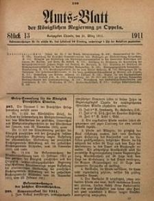 Amts-Blatt der Königlichen Regierung zu Oppeln, 1911, Bd. 96, St. 13