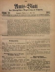 Amts-Blatt der Königlichen Regierung zu Oppeln, 1911, Bd. 96, St. 18