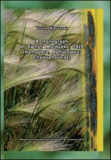 A monograph of Siphini Mordvilko, 1928 (Hemiptera, Aphidoidea: Chaitophorinae)