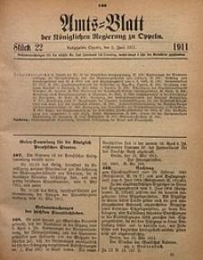 Amts-Blatt der Königlichen Regierung zu Oppeln, 1911, Bd. 96, St. 22