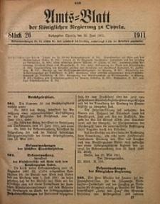 Amts-Blatt der Königlichen Regierung zu Oppeln, 1911, Bd. 96, St. 26