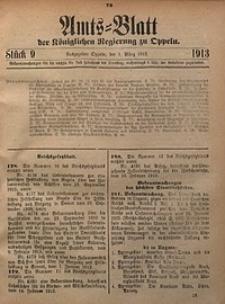 Amts-Blatt der Königlichen Regierung zu Oppeln, 1913, Bd. 98, St. 9