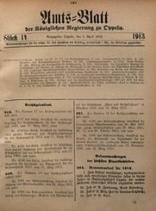 Amts-Blatt der Königlichen Regierung zu Oppeln, 1913, Bd. 98, St. 14