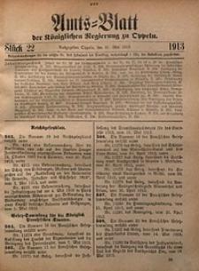 Amts-Blatt der Königlichen Regierung zu Oppeln, 1913, Bd. 98, St. 22