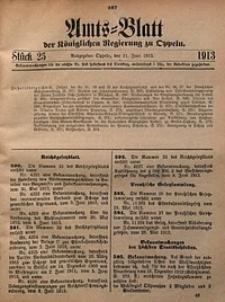 Amts-Blatt der Königlichen Regierung zu Oppeln, 1913, Bd. 98, St. 25